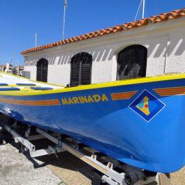 Rénovation d'une barque à rames