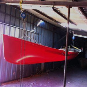 Barque à rame démoulée