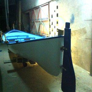 Fabrication et pose d'un safran pour  bateau